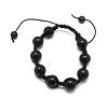 Tranquility Friendship bracelet with Dyed Black Natural Jade