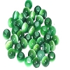 Green Cat's eye 8 mm beads sold by the dozen