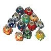 Mixed Color Lampwork European Style Beads 5mm Hole 15mm wide