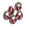 Sterling Silver Swarovski Crystal European Beads 4.5 mm Hole