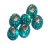 Swarovski Crystal Bead Turquoise Color Sterling Silver Core 3mm hole