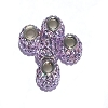 Swarovski Crystal Bead Lilac Color Sterling Silver Core 3mm hole