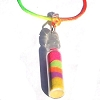 Colorful Sand Bottle on Multi Colored Necklace