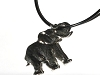 Pewter Flat Good Luck Elephant Figurine Pendant