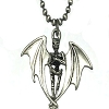 18 inch Chain Necklace with a Evil Winged Skeleton