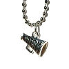 Cheerleader Go Team Megaphone on Stainless Steel Necklace