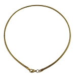 European Style Gold color copper neck wire choker necklace finding