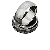 Men's 316L Polished Stainless Steel etched 9 mm Band Ring