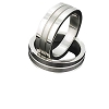Men's 316L Stainless Textured Gradualed Width Rings