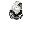 Men's 316L Stainless Steel Ribbed Round Edge Ring