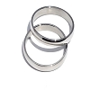 Men's 316L Surgical Stainless Steel Simple Narrow 3 mm Band Ring