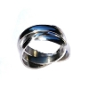 Men's 316L Stainless Steel Triple Interwoven Rings Band
