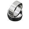 Men's 316L Stainless Steel Five Side 8 mm Band Ring
