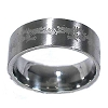 Men's 316L Stainless Steel Tribal Dragon Etching  9mm Ring Band