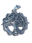 Stainless Steel Tree of Life Pendant - Hope Faith Love Trust