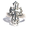925 Sterling Silver Filigree Calatrava Cross Ring