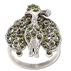 Sterling Silver Genuine 42 Marcasite Peacock Ring