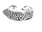 Sterling Silver Celtic Triquetras Toe Ring