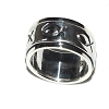 925 Sterling Silver 8mm Icthus Fish Spinner Ring