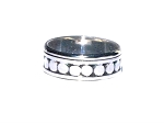 Sterling Silver Bali Circle Beaded Row Spinne