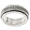Sterling Silver Watchband Spinner Band Ring