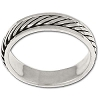 Sterling Silver Rope Band Spinner Ring