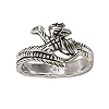 Sterling Silver Dragon Wrap Ring
