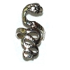 Sterling Silver Wide Detailed Snake Ring