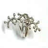 Sterling Silver Long Vine and Berries Ring