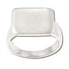 Sterling Silver Flat Rectangular Engraveable Ring