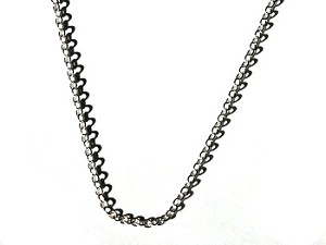 Silver Color Brass 18 inch Rolo Neck Chain 1.5mm wide