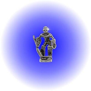 Small Hockey Goalie Pewter Figurine