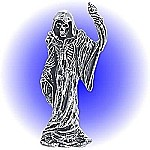Lead Free Grim Reaper with scepter Pewter Figurine
