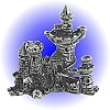 War Castle Pewter Figurine - Lead Free.