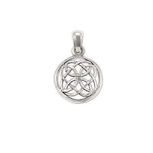 Sterling Silver Celtic Rose Knot In Circle Pendant