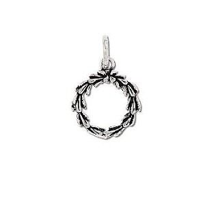 Sterling Silver Wreath Pendant