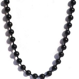 Black Stainless Steel 24 Inch 3.2mm Ball Link Neck Chain Necklace