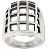 Sterling Silver Large Window Pane Ring