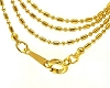 Golden Ball and Link 17 inch 1.2 mm Neck Chain