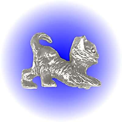 Kitty Cat Pewter FIGURINE - Lead Free.