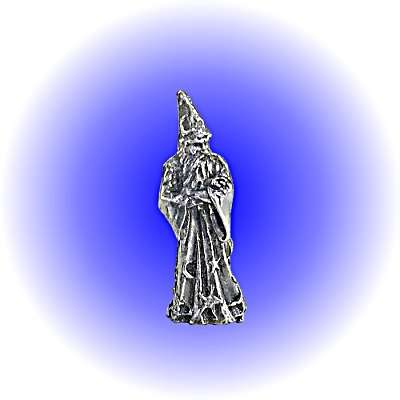Fantasy Wizard Pewter FIGURINE  - Lead Free