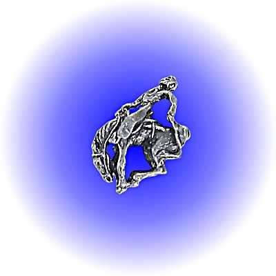 Rodeo Bronco Pewter FIGURINE - Lead Free
