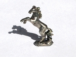 Standing Rearing Horse Pewter Figurine - Lead Free 3/4 Inch Tall