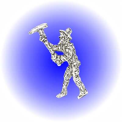 Gold Miner Using Pickaxe Pewter FIGURINE - Lead Free