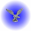 Flying Hunting Eagle Pewter Figurine - Lead Free