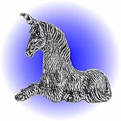 Resting Unicorn Pewter FIGURINE - Lead Free