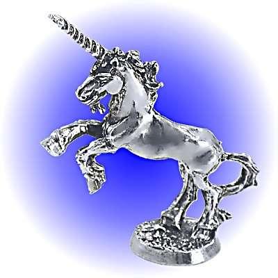 Rearing Sire Unicorn Pewter FIGURINE - Lead Free