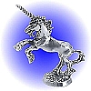 Rearing Sire Unicorn Pewter Figurine - Lead Free