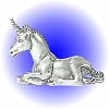 Sitting and Resting Unicorn Pewter Figurine - Lead Free