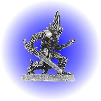 Dark Fantasy Warrior Pewter FIGURINE - Lead Free